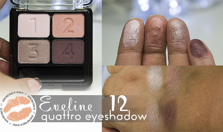 Eveline Quattro Eyeshadow 12