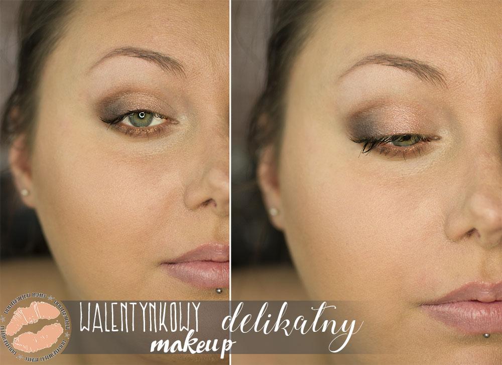 Makijaż walentynkowy delikatny i wzmocniony | Tutorial
