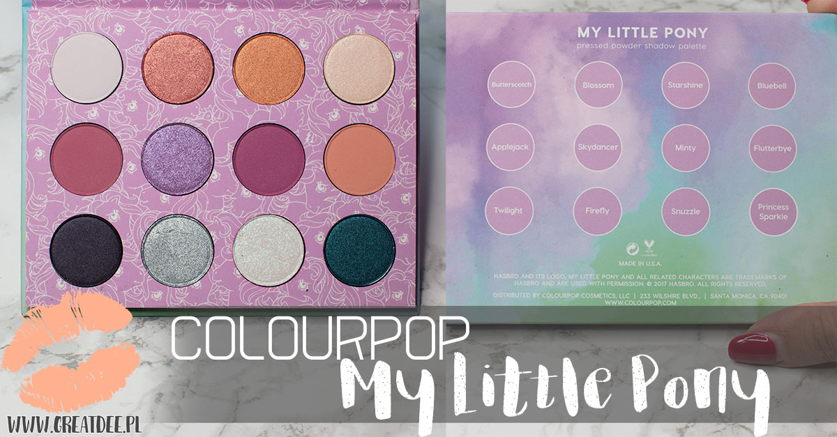 Colourpop My Little Pony paleta cieni i nazwy