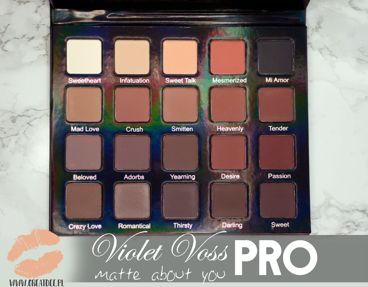 Violet Voss PRO matte about you kolory