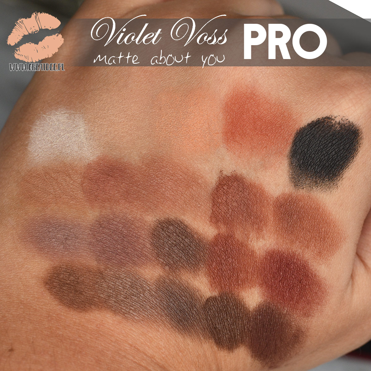 Violet Voss PRO matte about you swatche