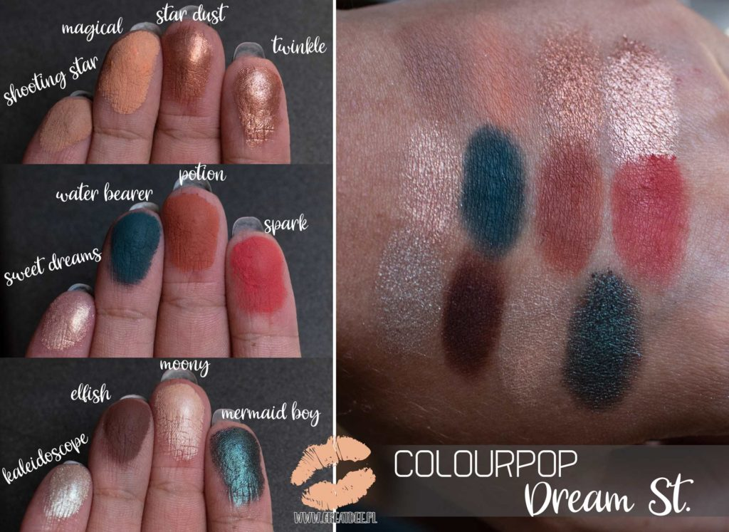 Dream St. Colourpop | paleta swatch